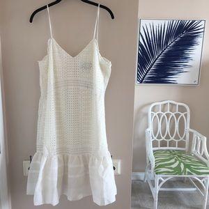NWT J. Crew White Eyelet Dress - size 12